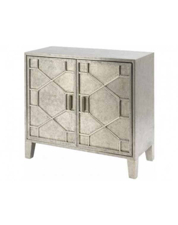Astor Hand Embossed Metal 2 Door Cabinet